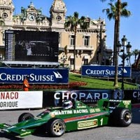 Green Racing Car in Monaco City
