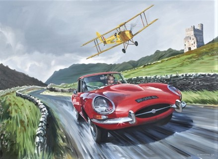 Jaguar E-type & Tiger Moth
