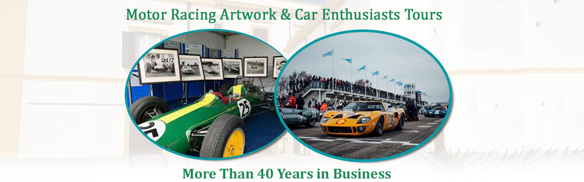 Collage of Racing Car and Racing Event